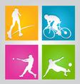 sport paper cut element vector image