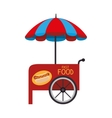 stall parasol cart icon vector image