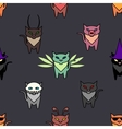 Cute Hallowen cats on the grat background vector image