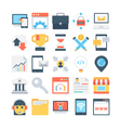 Digital Marketing Colored Icons 4 vector image