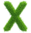 capital letter x from grass on white vector image