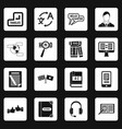 learning foreign languages icons set squares vector image