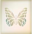 Vintage floral butterfly background vector image