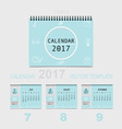 2017 Calendar planner design template vector image