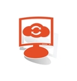 Cloud refresh monitor sticker orange vector image
