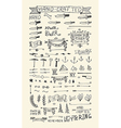 Hand Drawn elements Banners vector image