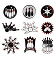 Bowling team or club emblems vector image