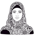 arab girl outline vector image