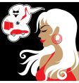 girl shopaholic vector image vector image