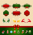 Merry Christmas Creative label set vector image vector image