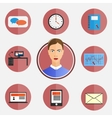 Icons Business day vector image