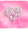 Absrtact Floral Heart Background vector image