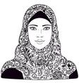 arab girl outline vector image