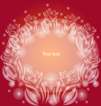 Background with transparent roses vector image