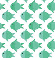 Fish cartoon patternFish pattern vector image