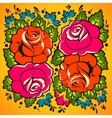 Floral Ornament in Russian tradition style vector image