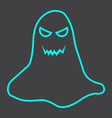 ghost line icon halloween and scary horror sign vector image