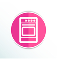 stove icon fuel hob meal electric blaze plate vector image