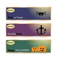 Website spooky header or banner set with Halloween vector image