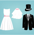Wedding dresses vector image