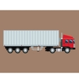 truck trailer container delivery transport vector image