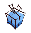 A gift box vector image vector image