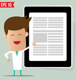 Doctor showing a report - - EPS10 vector image vector image