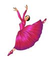 dancer in red vector image