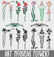 Art Nouveau Flowers vector image