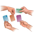 Card in the hand vector image vector image