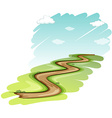A pathway vector image