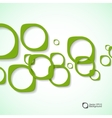 Abstract background of colored rounded bulk items vector image