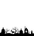 christmas landscape black vector image