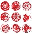 Grunge Red Spiral vector image