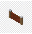 isolated brick wall isometric barrier vector image