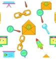 Optimization icons set cartoon style vector image