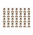 Set of detective emoticon isolated on white vector image