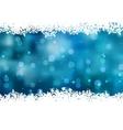 Snowflakes Christmas Card vector image