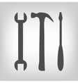 Three tools set vector image