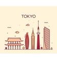 Tokyo City Trendy line art vector image
