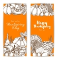 Thanksgiving day greeting banners set vector image vector image