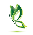 green butterfly ecology concept isolated symbol vector image vector image