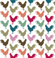 Colorful cock pattern vector image vector image