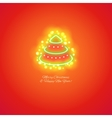 Christmas Tree Icon with Magic Sparkles vector image