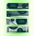 grunge style horizontal layout banner set vector image