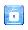 version Unlock icon Eps 10 vector image vector image