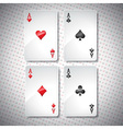 casino with playing poker cards vector image vector image