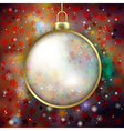 Abstract red background with Christmas decoration vector image vector image