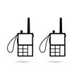 walkie talkie in black vector image