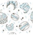 Doodle seamless pattern with vector image
